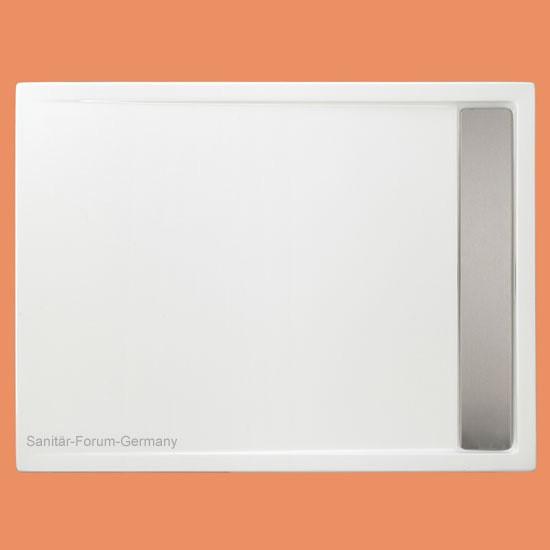 Duschwanne begehbar Easytray mit Rinne 100 x 100 cm (2147) Rinnendusche