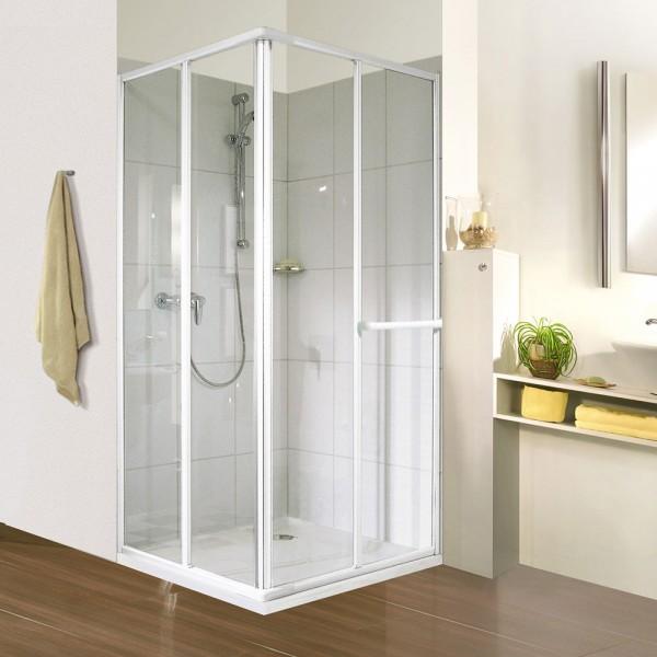 Duschkabine Eckeinstieg Schiebetür 80 x 70 x 175 cm