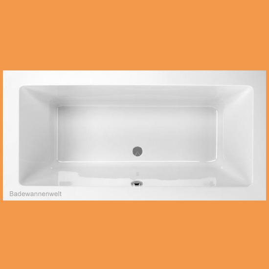 180 x 80 lupor eckige badewanne rechteck badewannen. Black Bedroom Furniture Sets. Home Design Ideas