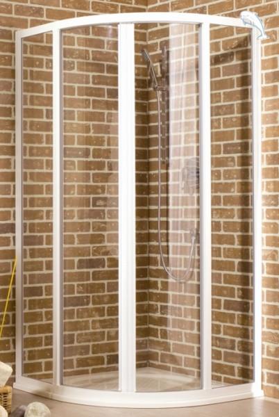 Runddusche Schiebetür 100 x 100 x 185 cm