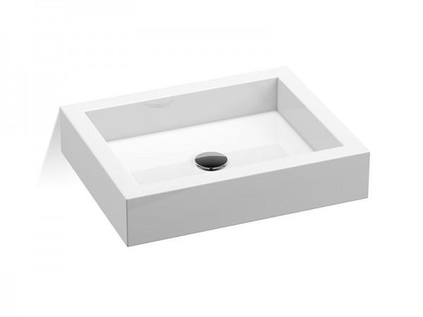 Mineralguss Aufsatz Waschbecken 500 x 400 mm
