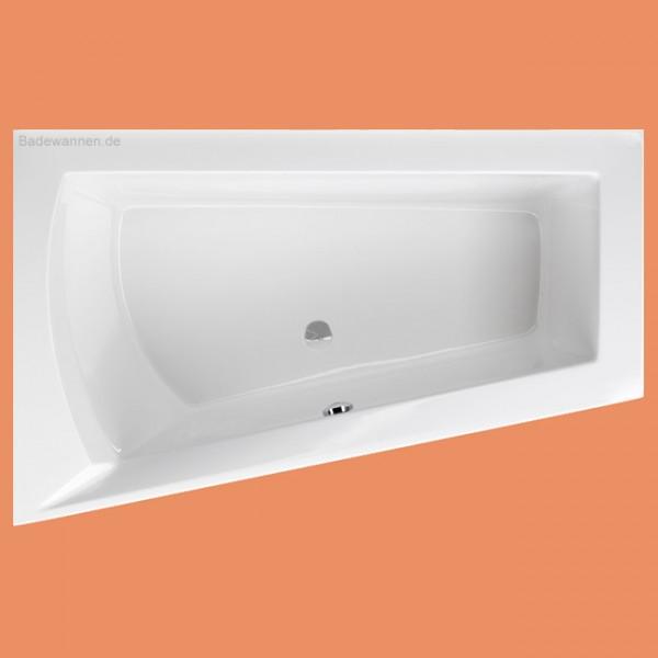 Raumspar-Badewanne Lara links 175 x 135 cm (1183) auch mit Schürze