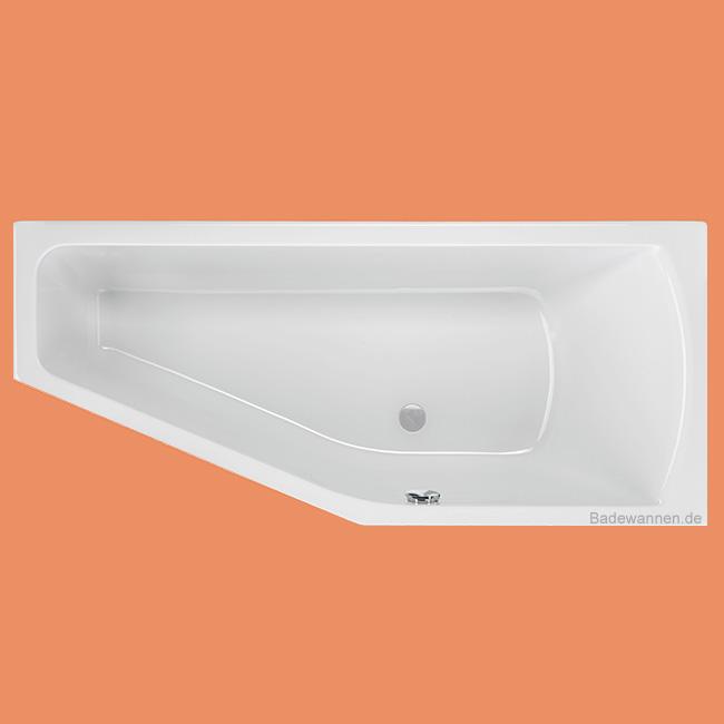 raumspar badewanne lagoon rechts 160 x 75 cm. Black Bedroom Furniture Sets. Home Design Ideas