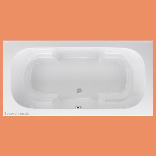 Rechteck badewanne miranda 180 x 90 cm for Sechseck badewanne stahl