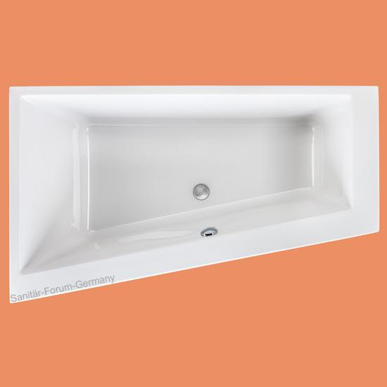 raumspar badewanne malibu top links 170x100 67cm. Black Bedroom Furniture Sets. Home Design Ideas