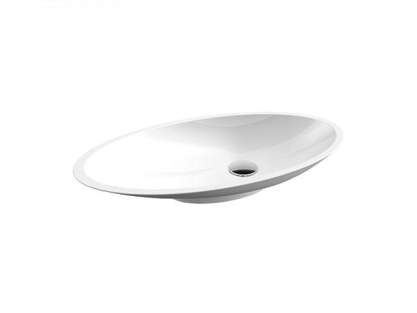Mineralguss Aufsatz Waschbecken 590 x 310 mm