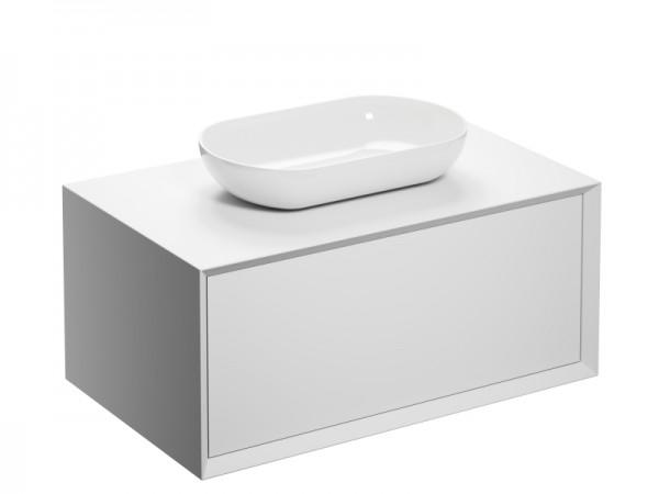 Badmöbel ohne Hahnloch Weiss 902 x 547 x 508 mm