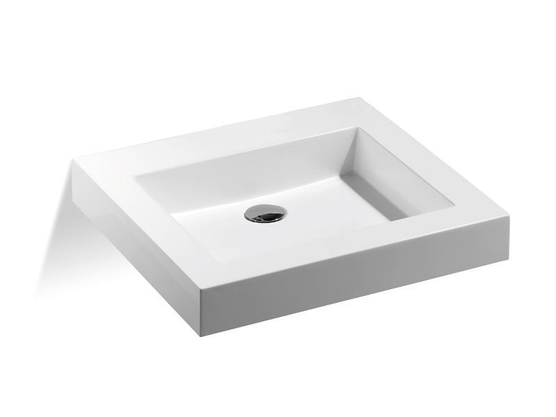 mineralguss waschbecken ohne hahnloch 550 x 500 mm a00701. Black Bedroom Furniture Sets. Home Design Ideas
