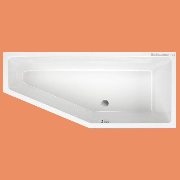 raumspar badewanne lupor rechts 170 x 75 cm. Black Bedroom Furniture Sets. Home Design Ideas