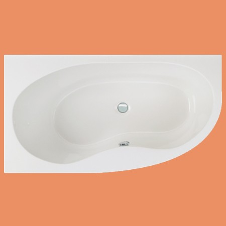 Raumspar-Badewanne Luzern li. 165 x 90 cm (1053) auch mit Schürze