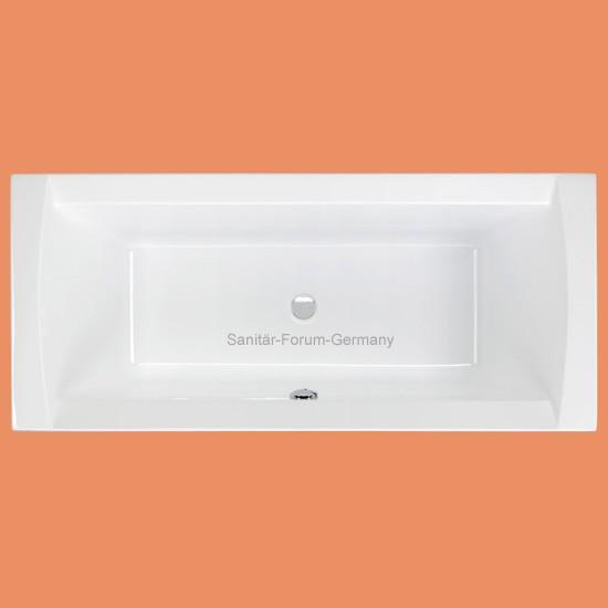 Rechteck-Badewanne Crown 180 x 80 cm (1191) auch mit Schürze