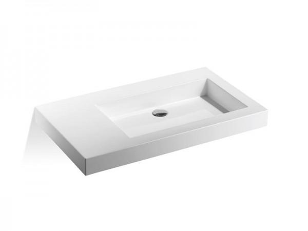 Mineralguss Waschbecken ohne Hahnloch 900 x 500 mm