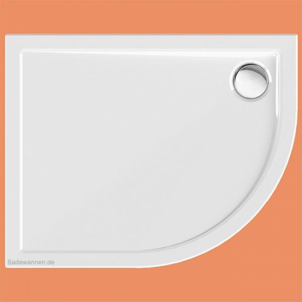 Viertelkreis-Duschwanne 80 x 100 cm Sito links (2268)