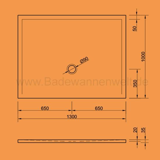 Dusche Ohne Duschtasse Bauen : Begehbare Dusche Gef?lle : Bodengleiche Dusche Flat 130 x 100 cm