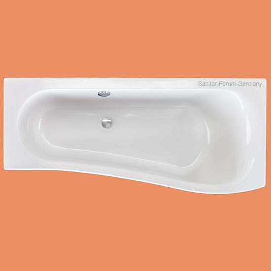 raumspar badewanne melrose rechts 170 x 75 cm. Black Bedroom Furniture Sets. Home Design Ideas