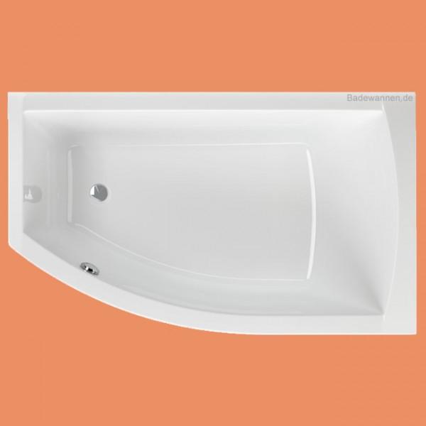 Raumspar-Badewanne Flo rechts 160 x 95 cm (1170) auch mit Schürze