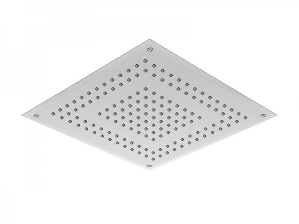 Regenpaneel 500 x 500 mm | 2 Strahlarten Edelstahl poliert