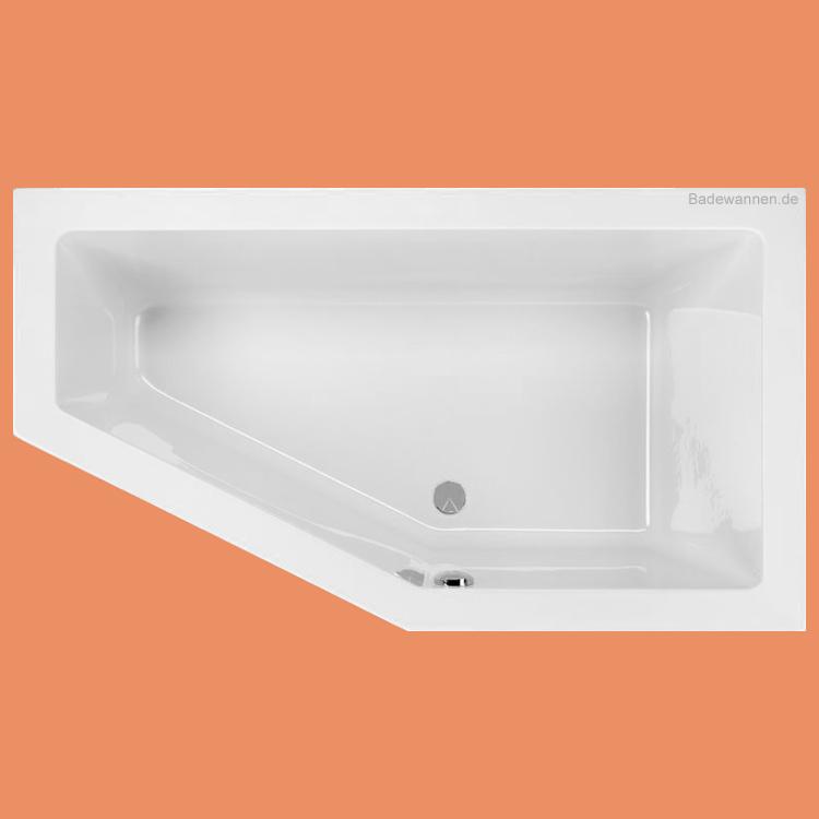 Gut gemocht Raumspar-Badewanne Lupor rechts 160 x 90 cm | badewannen.de WE23