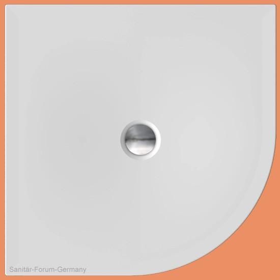 Viertelkreis-Duschwanne flach 100 x 100 cm Flat New Round (2181)