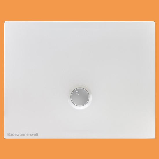 Bodengleiche Dusche Flat 120 x 80 cm Maus über das Bild bewegen