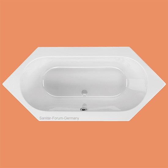 Sechseck-Badewanne Andros 200 x 90 cm (1238)