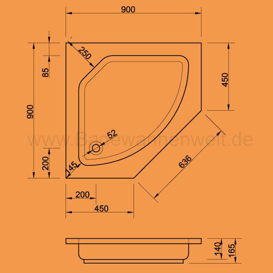 f nfeck duschwanne cola 90 x 90 cm. Black Bedroom Furniture Sets. Home Design Ideas