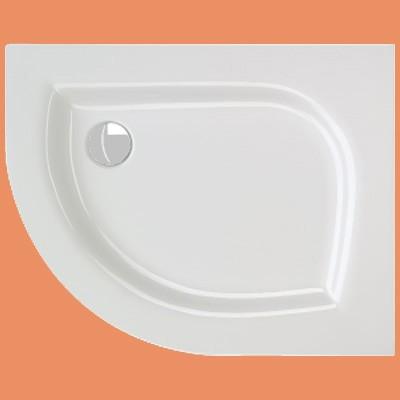 Viertelkreis-Duschwanne 100 x 80 cm Messino re. (2054)