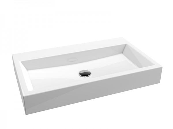 Mineralguss Waschbecken ohne Hahnloch 700 x 420 mm
