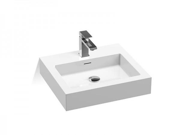 Mineralguss Waschbecken mit Hahnloch 500 x 450 mm