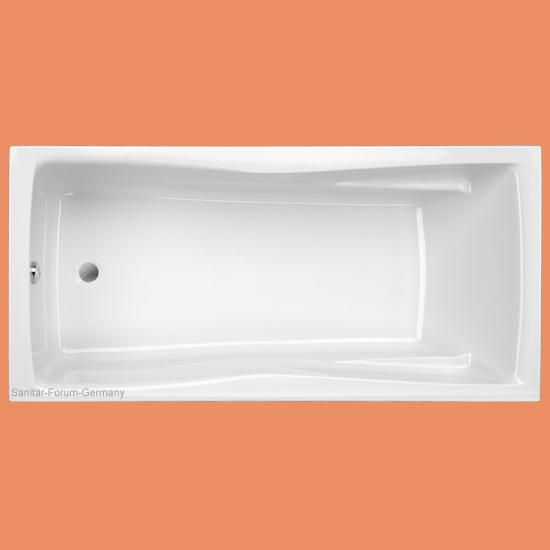 Rechteck badewanne andorra 190 x 90 cm for Sechseck badewanne stahl
