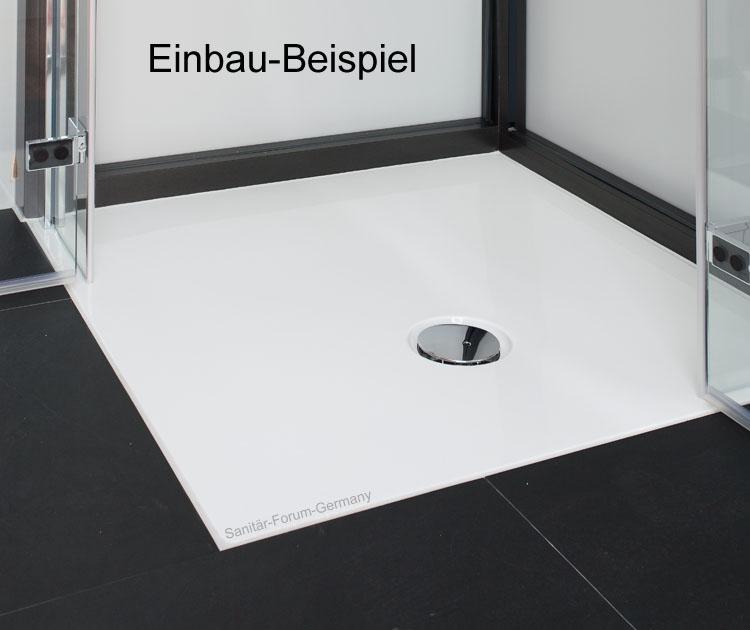 duschwanne flach flat 120 x 100 cm | badewannen.de